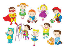 Toddlers activities vector illustration