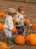 Toddlers on the Farm Royalty Free Stock Photo