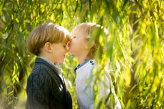 Toddlers friendship Royalty Free Stock Image