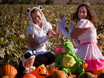 Toddlers in Halloween Costumes Royalty Free Stock Images