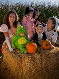 Toddlers in Halloween Costumes Royalty Free Stock Image