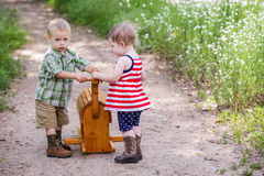 Toddlers in play Royalty Free Stock Image