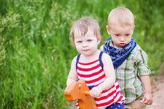 Toddlers in play Royalty Free Stock Images