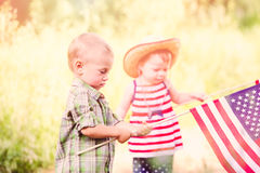 Toddlers in play Stock Image