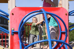 Toddlers on playground Royalty Free Stock Image