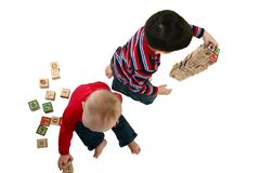 Toddlers Playing Royalty Free Stock Photo