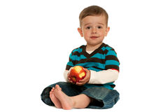 Toddlers should eat apples! Stock Photos