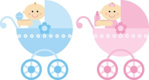 Toddlers in a stroller Stock Photos