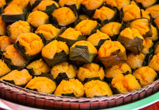 Toddy palm cake,Thai traditional dessert. Royalty Free Stock Photos