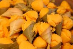 Toddy palmcake in suikerpalmbladen Royalty-vrije Stock Afbeelding