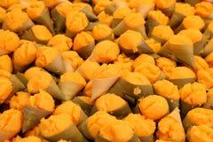 Toddy palmcake in suikerpalmbladen Royalty-vrije Stock Foto