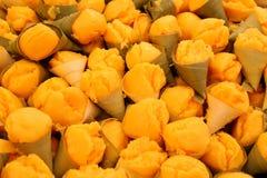 Toddy palmcake in suikerpalmbladen Royalty-vrije Stock Foto's