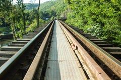 Todeseisenbahn, Kanchanaburi Thailand Stockfotografie