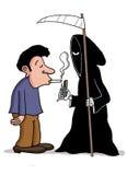 Das Rauchen ist eine Einladung zum Tod Stockfoto