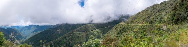 Todesstraße in Bolivien Stockbild