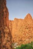 Todgha的风景看法在摩洛哥狼吞虎咽 免版税库存图片