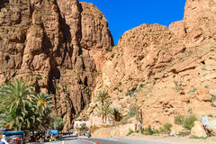 Todgha Gorge in Morocco Stock Photography