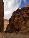 Streets of Todgha Gorge, Morocco stock photos