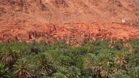 Todgha wąwóz, jar w Wysokich atlant górach w Maroko obrazy stock