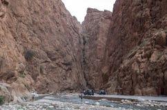 Todgha wąwóz, jar w Wysokich atlant górach w Maroko, n Zdjęcia Royalty Free