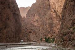 Todgha wąwóz, jar w Wysokich atlant górach w Maroko, n Fotografia Royalty Free