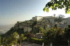 Todi. A view of Todi in Unbria (Italy Royalty Free Stock Photo