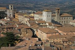Todi from above. Stock Images