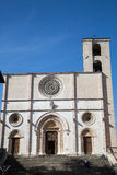 Todi medieval town in Italy. The cathedral in the medieval town of Todi. Umbria region, central Italy Stock Images