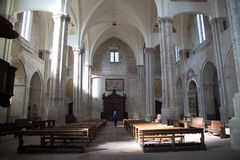 Todi medieval town in Italy. Internal view of the monumental church of San Fortunato in the medieval town of Todi. Umbria region, central Italy Royalty Free Stock Photo