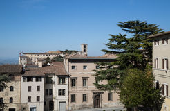 Todi medieval town in Italy. Panoramic view of the medieval town of Todi. Umbria region, central Italy Royalty Free Stock Photography