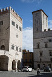 Todi medieval town in Italy. The Priori Palace in the medieval town of Todi. Umbria region, central Italy Royalty Free Stock Photography