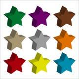 Todo el color del icono de la estrella con el fondo ligero ilustración del vector