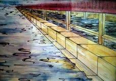 Todo el foco, mar, agua, azul, reflexión, ejemplo libre illustration
