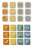 Todo el icono del símbolo del zodiaco Imagen de archivo libre de regalías