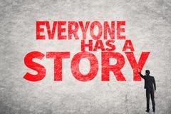 Todo el mundo tiene una historia fotografía de archivo