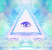 Todo el ojo que ve Foto de archivo