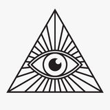 todo el símbolo del ojo que ve Imagen de archivo libre de regalías