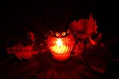 Todo el Souls'Day en el cementary Fotos de archivo