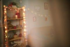 Todo está listo para la celebración de la Navidad Imagen de archivo libre de regalías