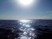 Todo-foco, ‹do †do ‹do †do mar que nivela a beleza do verão, céu, por do sol fotografia de stock