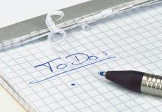 ToDo list Stock Image