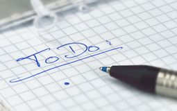 ToDo list Royalty Free Stock Photo