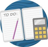 Todo list minimalism illustration Stock Photography