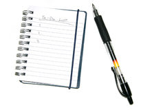 Todo List & Pen Stock Images
