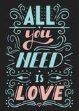 Todo lo que usted necesita es amor Fotografía de archivo