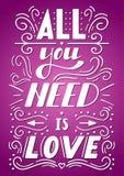 Todo lo que usted necesita es amor Imágenes de archivo libres de regalías