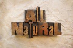 Todo natural Imagen de archivo libre de regalías