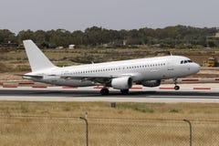 Todo o A320 branco Fotografia de Stock
