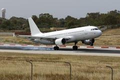 Todo o A320 branco Foto de Stock Royalty Free