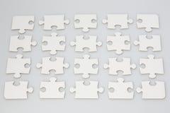 Partes vazias do enigma de serra de vaivém Fotografia de Stock Royalty Free